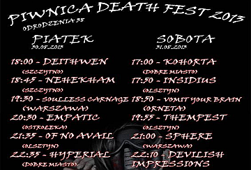 Piwnica Death Fest - poster
